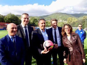 Taglio del nastro per i nuovi campi di Ligorna, Molassana e Baiardo