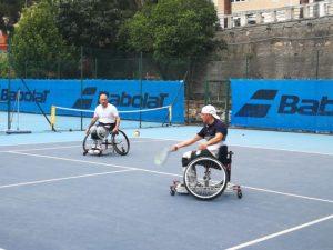 Venerdì prove di tennis in carrozzina a Pietra Ligure