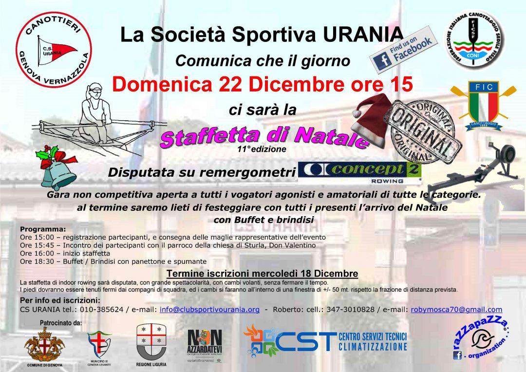 Domenica 22 dicembre a Vernazzola l'11a Staffetta di Natale