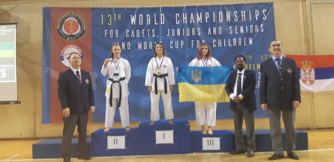 Oro e bronzo per Matilde Callegari ai Mondiali WKC