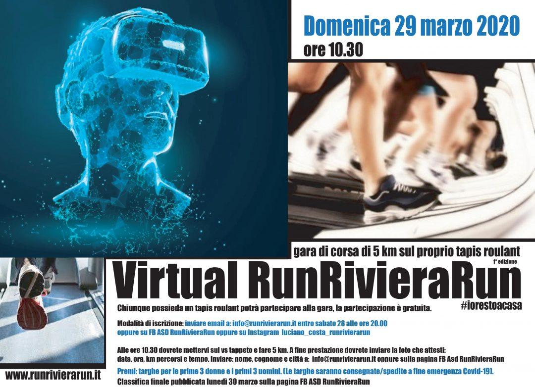 Domenica 29 Marzo ore 10.30 la prima VirtualRunRivieraRun