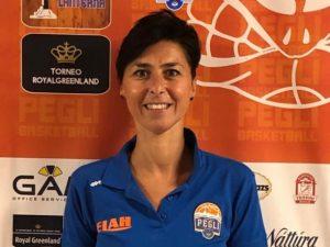 Michela Bracco al fianco delle ragazze del Basket Pegli
