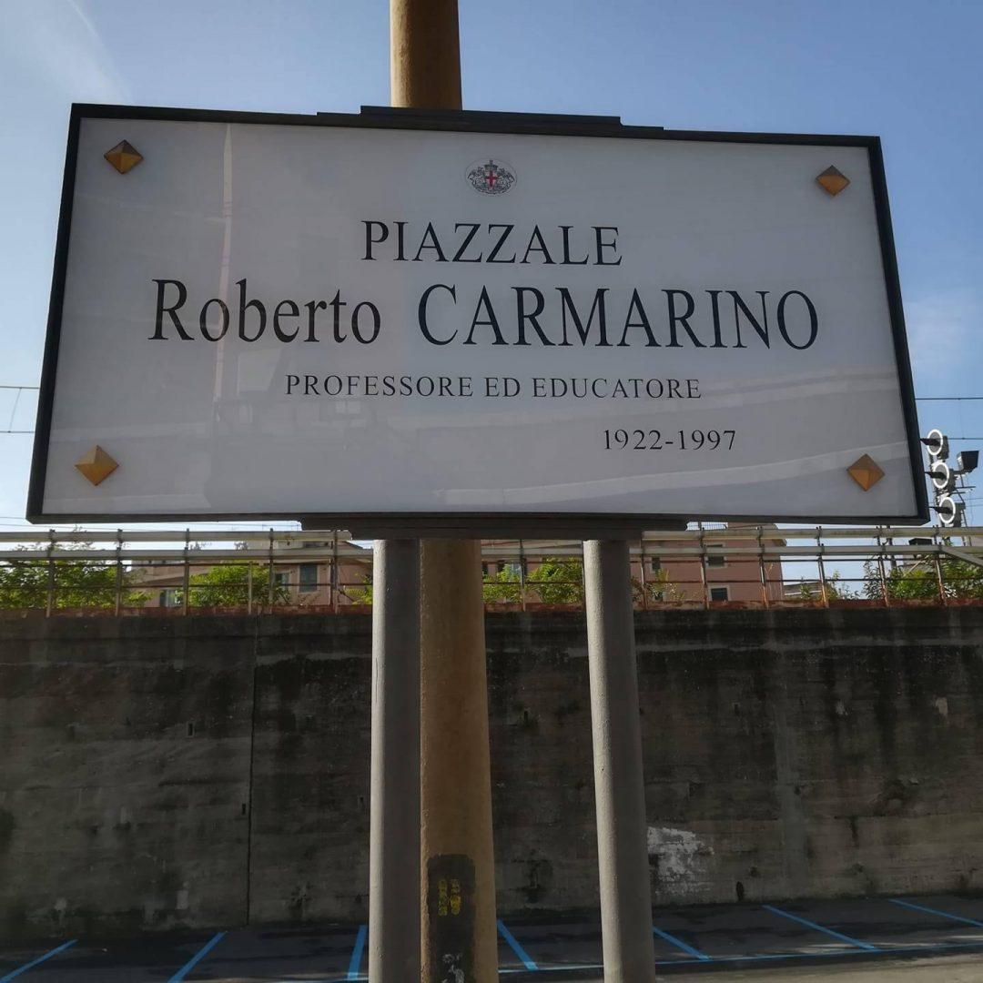 Piazzale Carmarino è realtà, per ricordare un grande uomo di sport