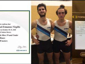 Rossi e Virgilio: record Rowing alla 24h di remoergometro