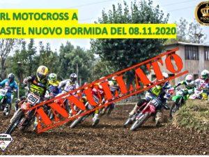 Motocross: annullata la prova di Castel Nuovo Bormida