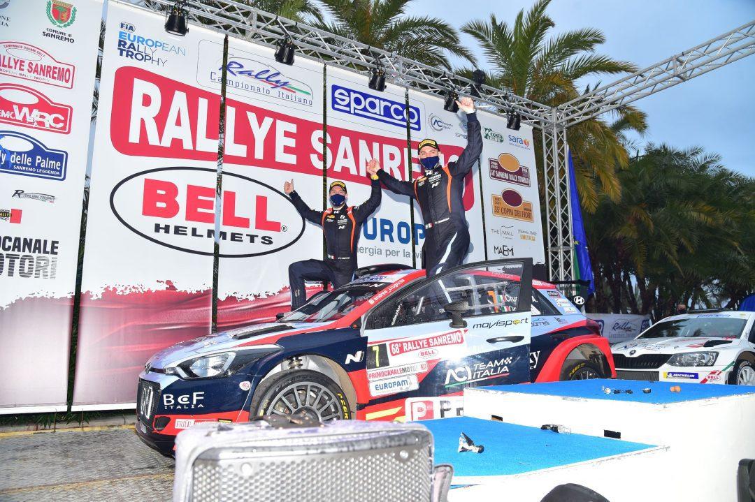 Il 68° Rallye Sanremo premia Craig Breen