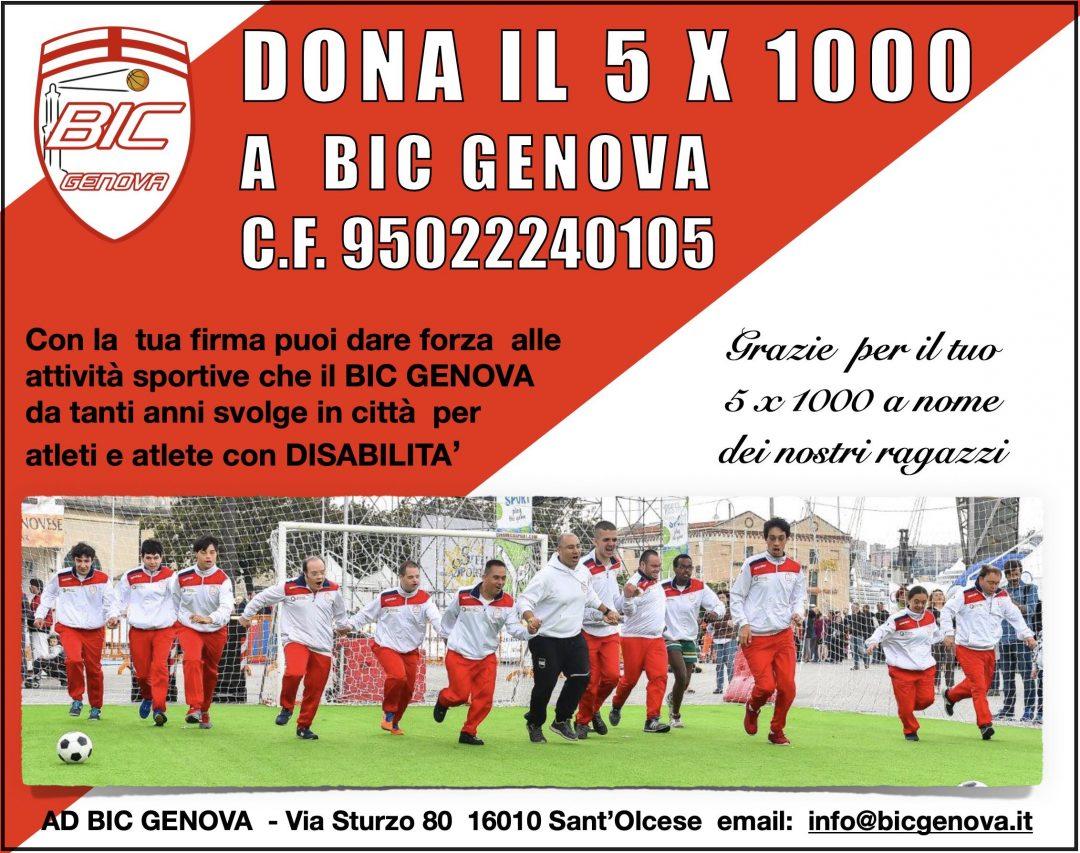 BIC Genova verso il futuro: un aiuto con il 5×1000