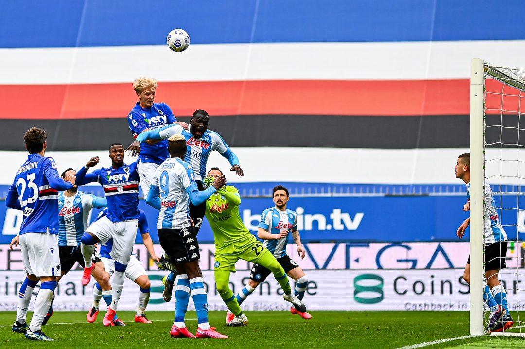 Samp battagliera e sfortunata, cede 2-0 a un ottimo Napoli