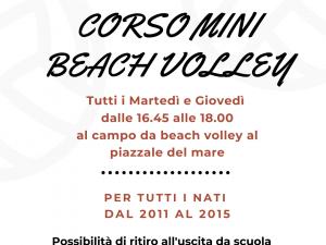 Inaugurato corso di Mini Beach volley ad Arenzano, prova gratuita martedì 6 aprile
