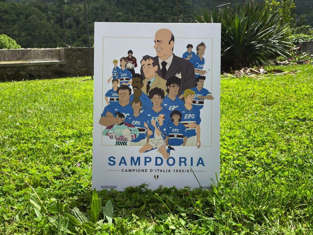 Sampdoria, gli eroi dello Scudetto diventano illustrazioni per celebrare la fiaba del 1991