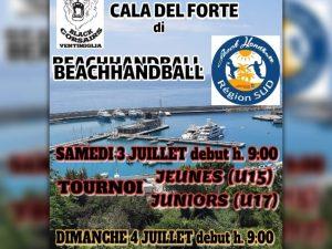 Sabato e domenica 3-4 luglio a Ventimiglia la tappa dello Challange Région sud di Beach Handball