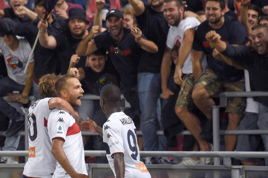 Il Genoa recupera la grinta e due gol al Bologna in un match elettrico