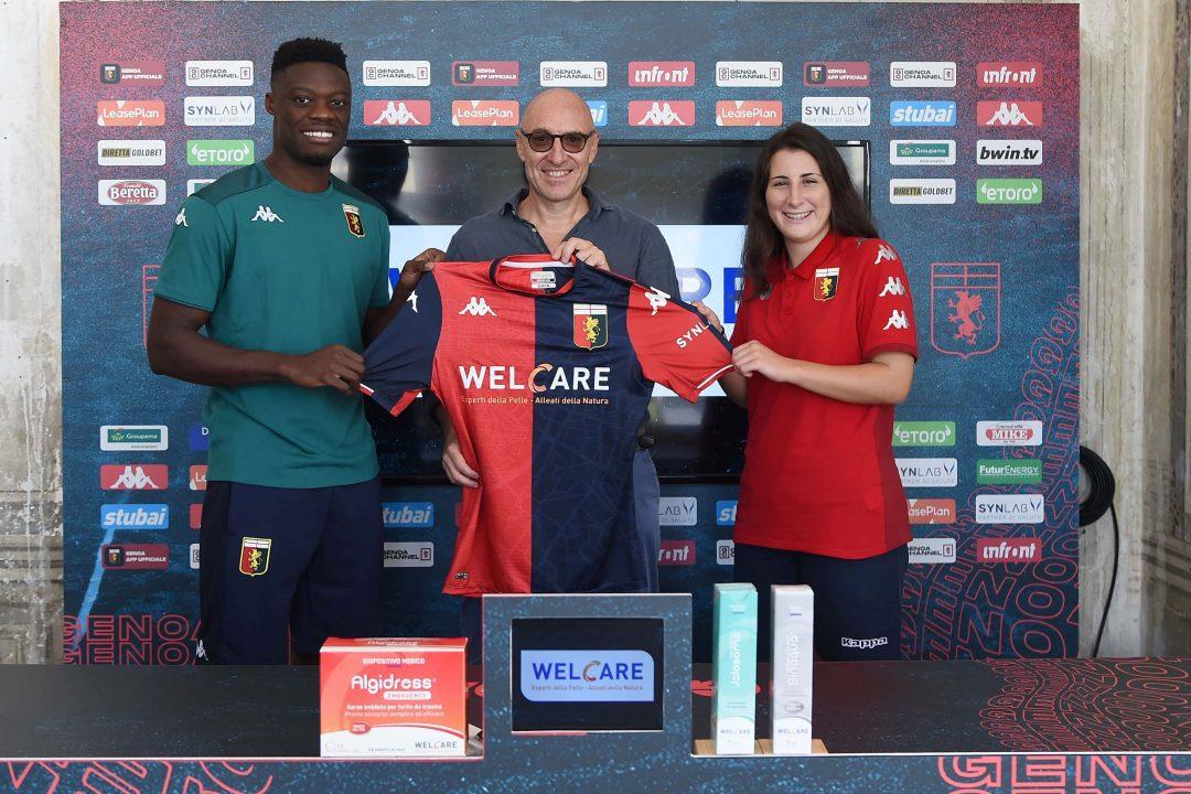 """Genoa Cfc e Welcare Industries S.p.A. rinnovano per 2 anni la """"Partnership in Sports Care"""""""