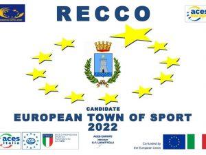 """E' ufficiale: Recco sarà """"Comune Europeo dello Sport 2022""""."""