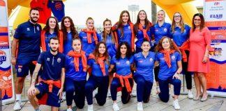 La squadra di serie B femminile del Basket Pegli